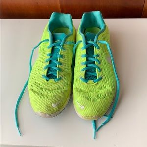 Neon Nike Free Athletic Shoes